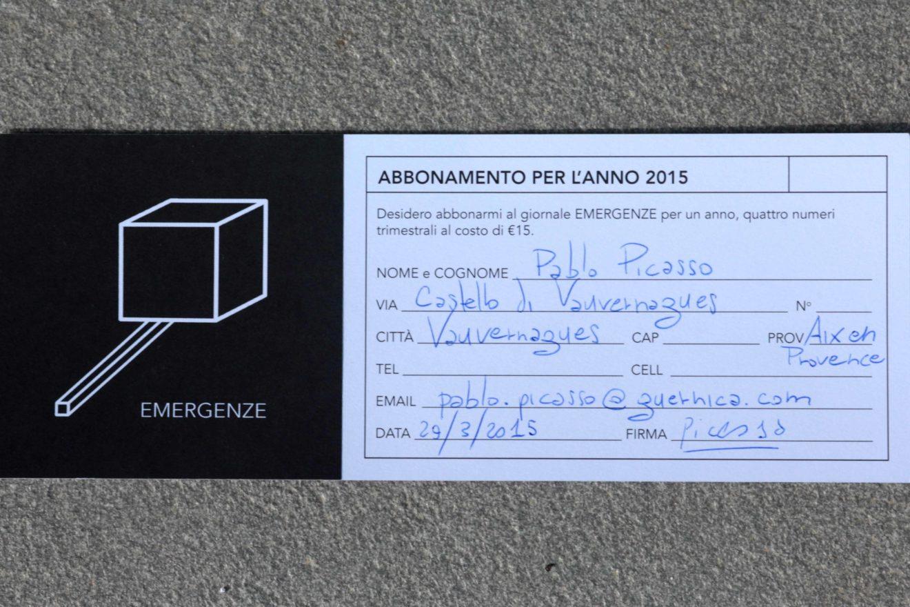 Emergenze 2015, campagna abbonamenti