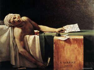Jacques-Louis David, Marat Assassinato, 1793.