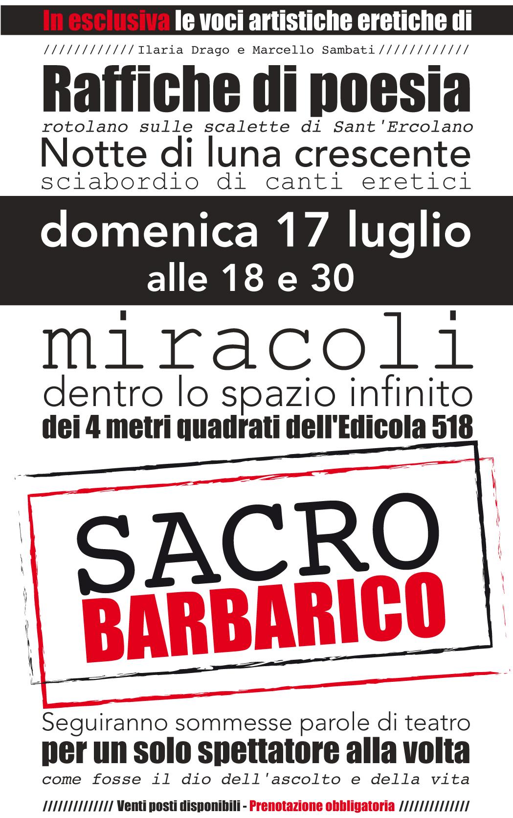 La serata da Edicola 518 con Ilaria Drago e Marcello Sambati