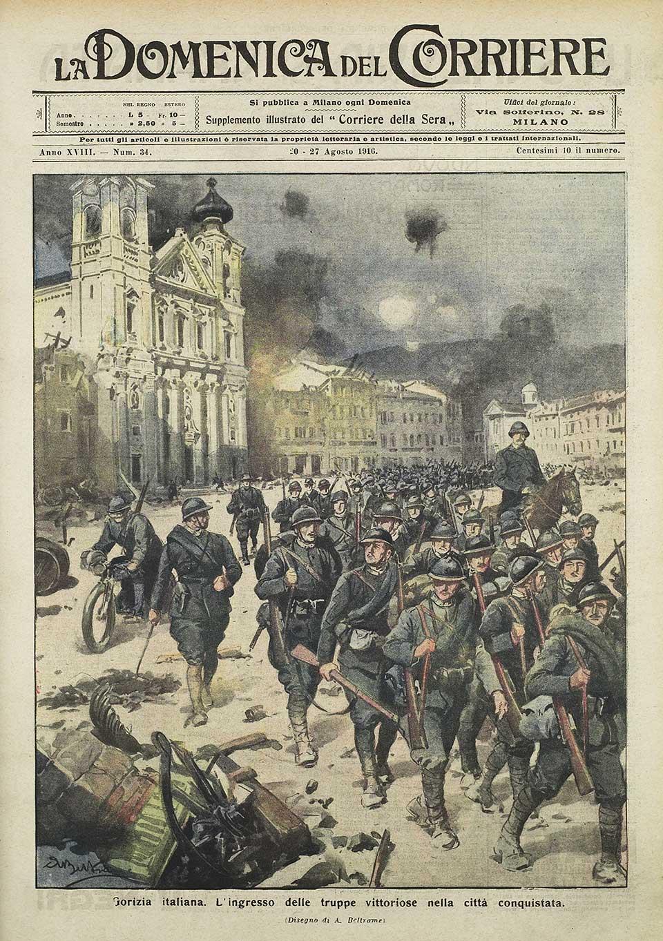 La copertina della Domenica del Corriere