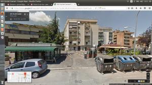 La strada del teatro di Centocelle a Roma